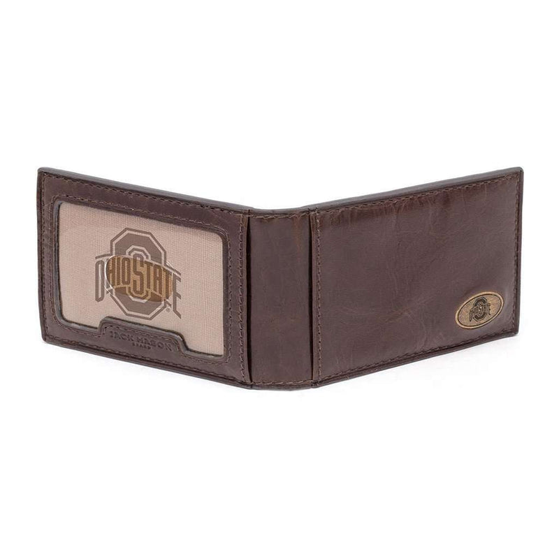 Ohio State Buckeyes Legacy Flip Bifold Front Pocket Wallet by Jack Mason - FINAL SALE