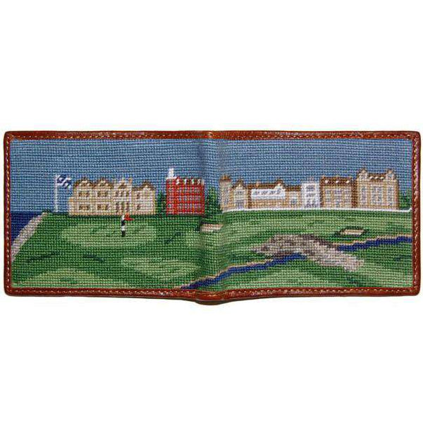 Old Course Scene Needlepoint Wallet by Smathers & Branson