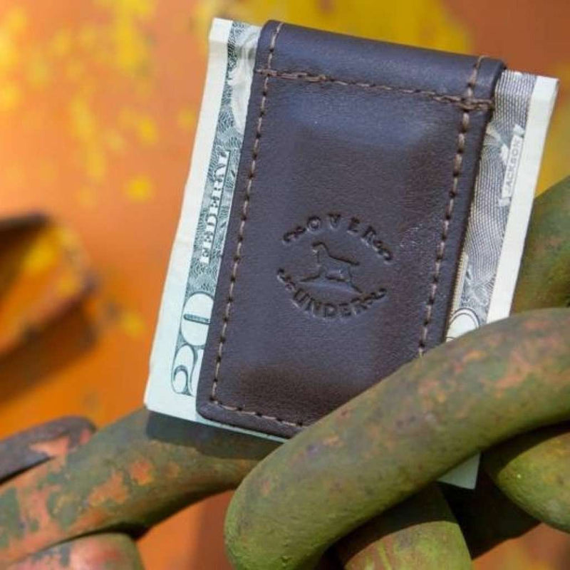 Original Logo Money Clip in Leather by Over Under Clothing