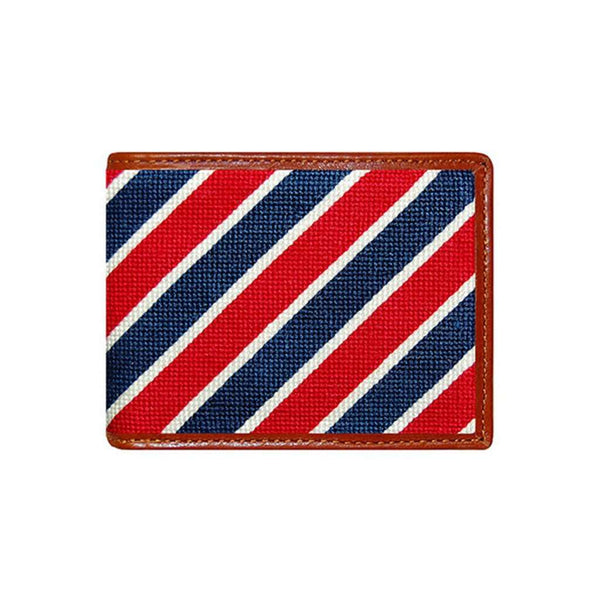 Wallets - Patriotic Stripe Needlepoint Wallet By Smathers & Branson