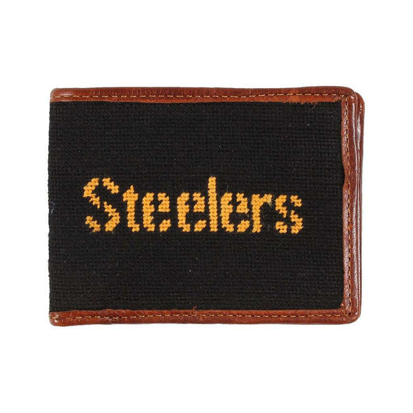 Wallets - Pittsburgh Steelers Needlepoint Wallet By Smathers & Branson