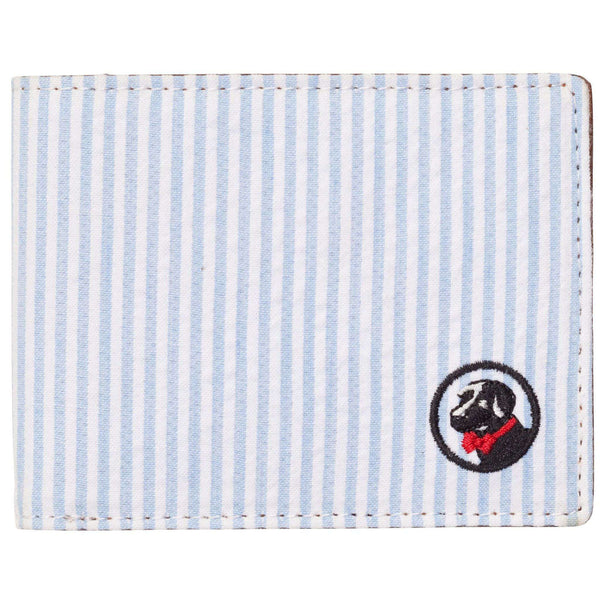 Wallets - Proper Wallet In Blue/White Seersucker By Southern Proper
