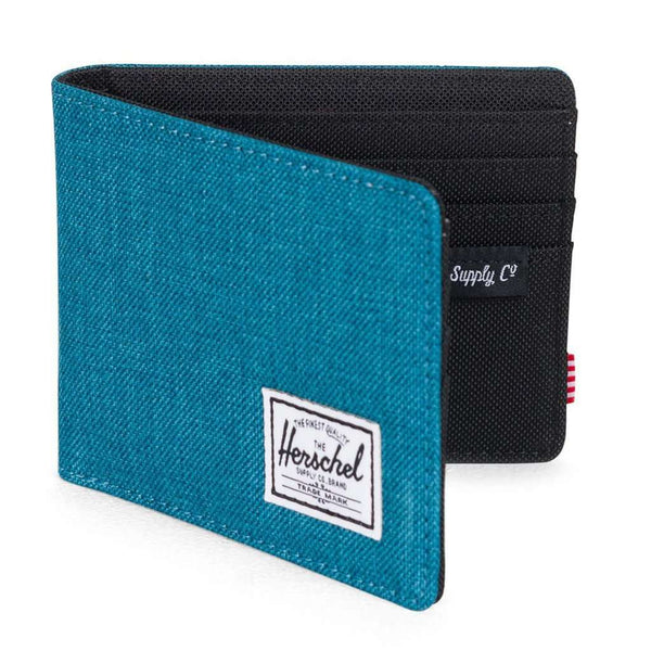 Wallets - Roy Wallet In Petrol Crosshatch By Herschel Supply Co.
