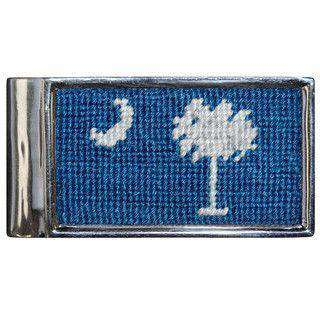 Wallets - South Carolina Flag Needlepoint Money Clip In Blueberry By Smathers & Branson