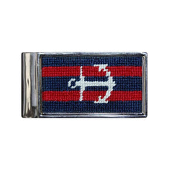 Striped Anchor Needlepoint Money Clip by Smathers & Branson
