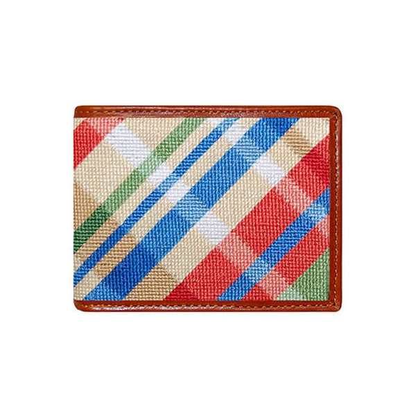 Summer Madras Needlepoint Wallet by Smathers & Branson