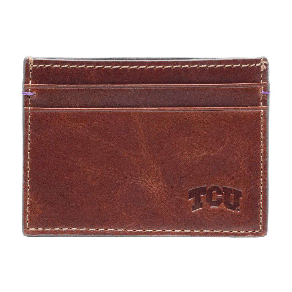 Wallets - TCU Horned Frogs Hangtime ID Window Card Case By Jack Mason