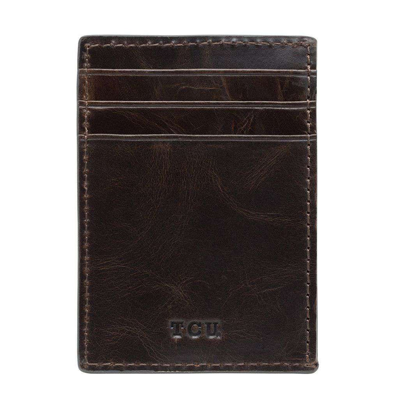 TCU Horned Frogs Legacy Multicard Front Pocket Wallet by Jack Mason - FINAL SALE