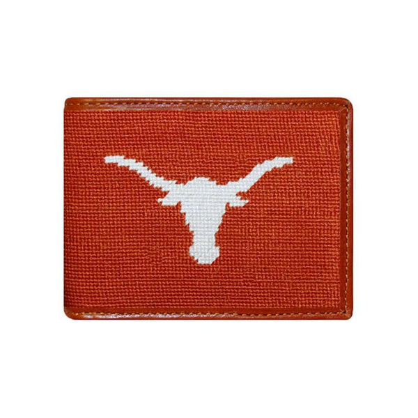 Wallets - Texas Needlepoint Wallet In Burnt Orange By Smathers & Branson