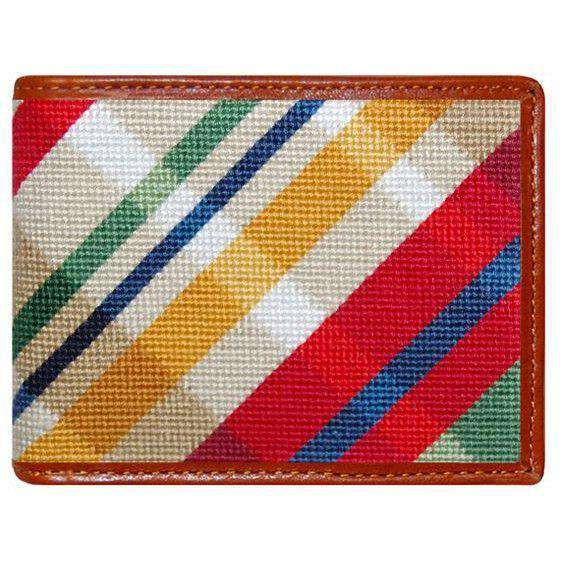 Traditional Madras Needlepoint Wallet by Smathers & Branson