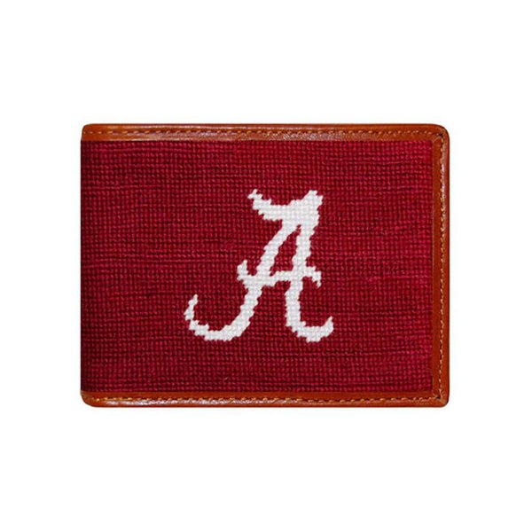 Wallets - University Of Alabama Needlepoint Wallet In Crimson By Smathers & Branson