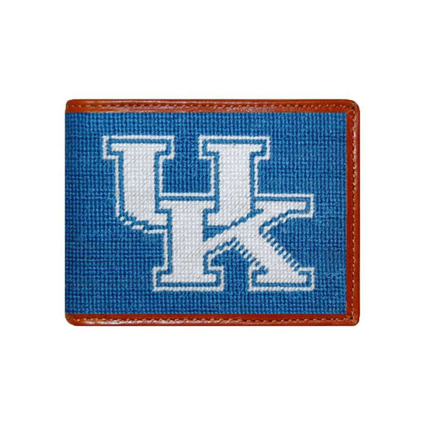 Wallets - University Of Kentucky Needlepoint Wallet In Blue By Smathers & Branson