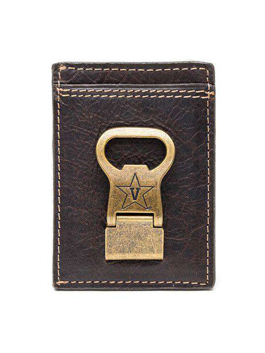 Wallets - Vanderbilt Commodores Gridiron Mulitcard Front Pocket Wallet By Jack Mason