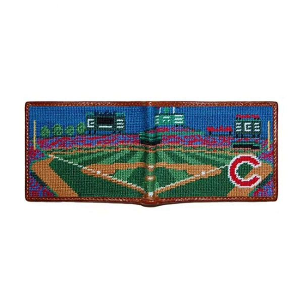Wallets - Wrigley Field Scene Needlepoint Wallet By Smathers & Branson