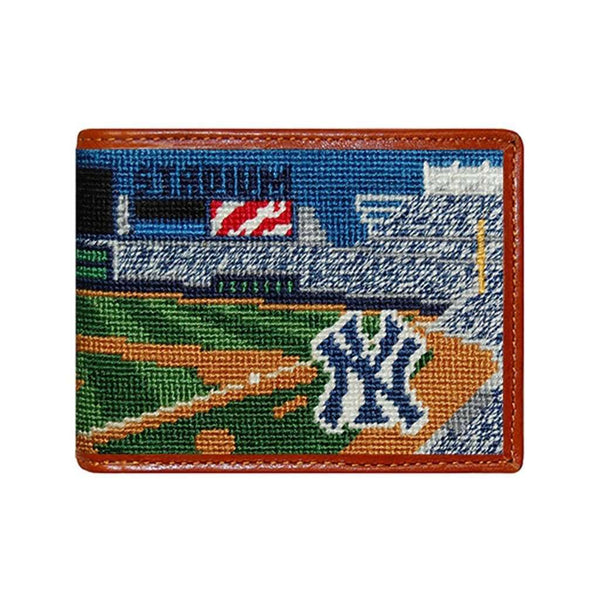 Wallets - Yankee Stadium Scene Needlepoint Wallet By Smathers & Branson