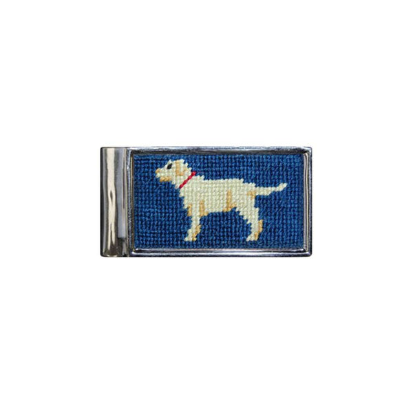 Yellow Lab Needlepoint Money Clip by Smathers & Branson