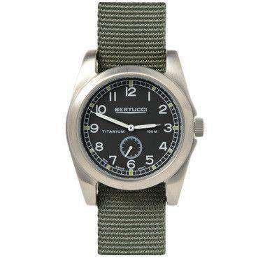 A-3T Vintage 42 Performance Watch in Defender Drab Band with Black Dial by Bertucci - FINAL SALE