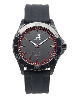 Watches - Alabama Crimson Tide Men's Blackout Silicone Strap Watch By Jack Mason