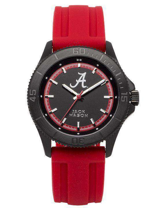 Watches - Alabama Crimson Tide Men's Silicone Strap Watch By Jack Mason