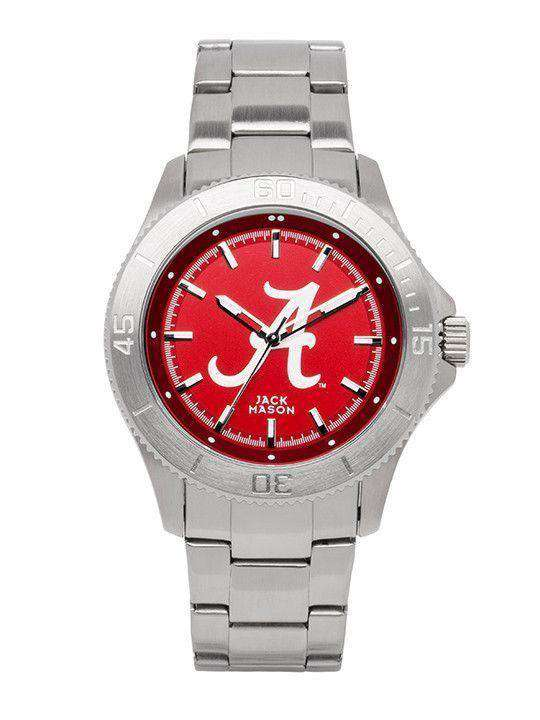 Watches - Alabama Crimson Tide Sport Bracelet Team Color Dial Watch By Jack Mason