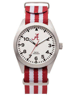 Watches - Alabama Crimson Tide Unisex Nato Striped Strap Watch By Jack Mason