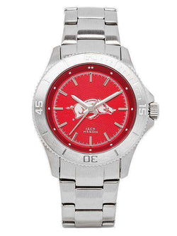 Watches - Arkansas Razorbacks Sport Bracelet Team Color Dial Watch By Jack Mason