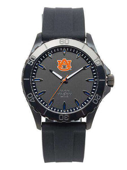 Watches - Auburn Tigers Men's Blackout Silicone Strap Watch By Jack Mason