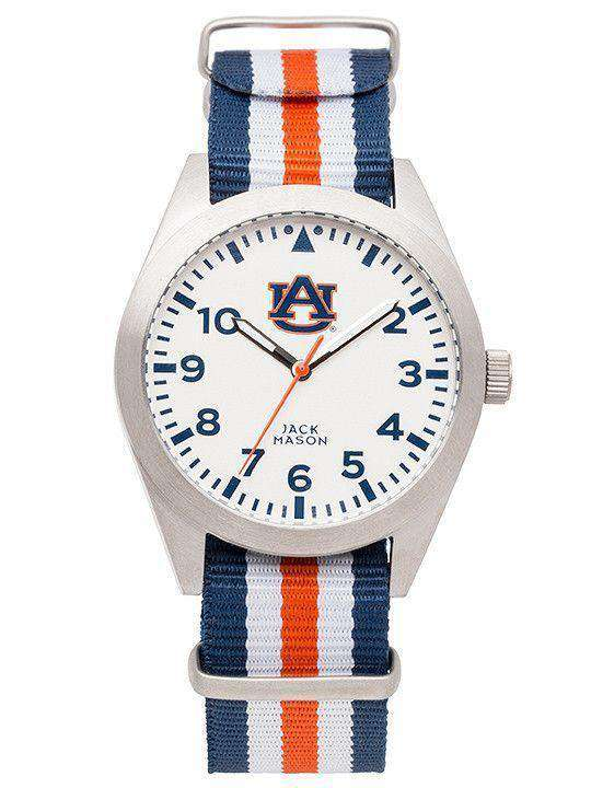 Watches - Auburn Tigers Unisex Nato Striped Strap Watch By Jack Mason