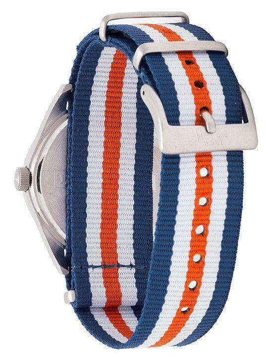 Auburn Tigers Unisex Nato Striped Strap Watch by Jack Mason - FINAL SALE