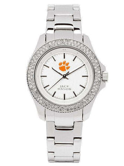Watches - Clemson Tigers Ladies Glitz Sport Bracelet Watch By Jack Mason