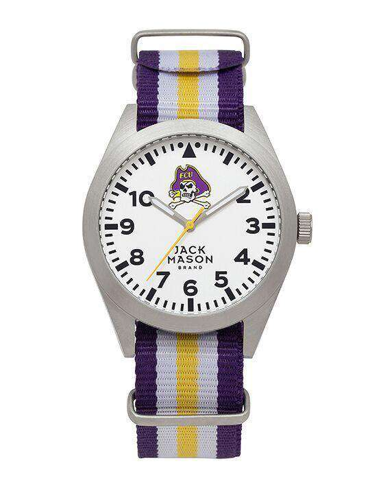Watches - East Carolina Pirates Unisex Nato Striped Strap Watch By Jack Mason