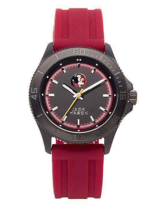 Watches - Florida State Seminoles Men's Silicone Strap Watch By Jack Mason