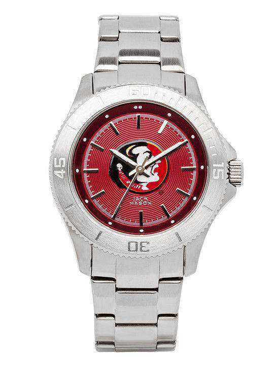 Watches - Florida State Seminoles Sport Bracelet Team Color Dial Watch By Jack Mason