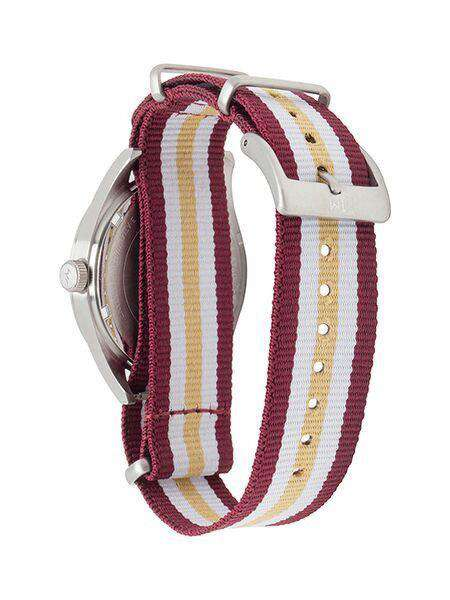 Florida State Seminoles Unisex Nato Striped Strap Watch by Jack Mason - FINAL SALE
