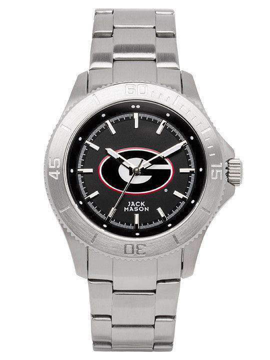 Watches - Georgia Bulldogs Sport Bracelet Team Color Dial Watch By Jack Mason
