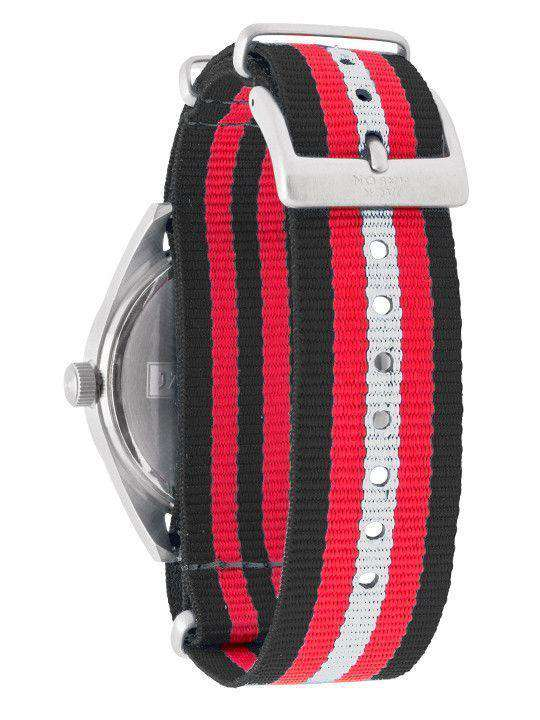 Watches - Georgia Bulldogs Unisex Nato Striped Strap Watch By Jack Mason