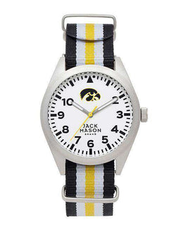Watches - Iowa Hawkeyes Unisex Nato Striped Strap Watch By Jack Mason