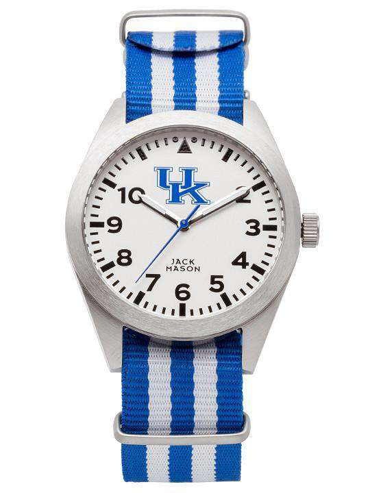 Watches - Kentucky Wildcats Unisex Nato Striped Strap Watch By Jack Mason