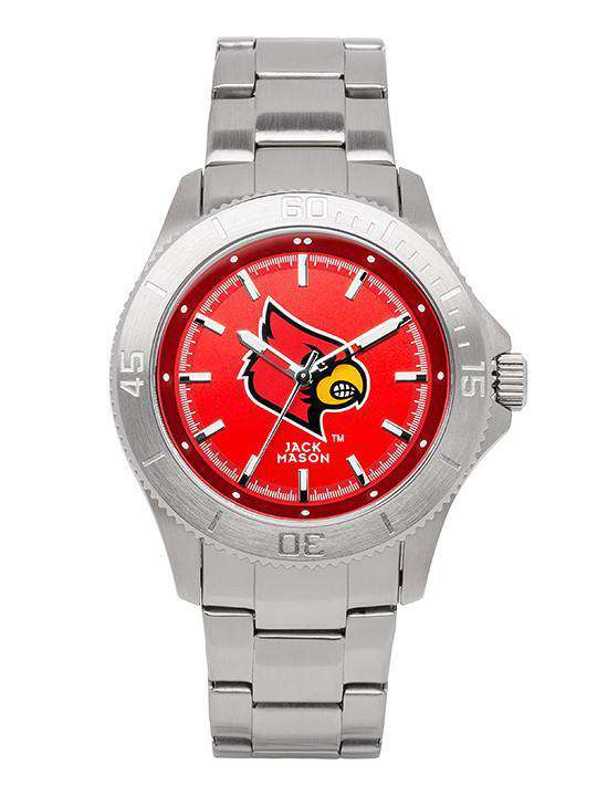 Watches - Louisville Cardinals Sport Bracelet Team Color Dial Watch By Jack Mason