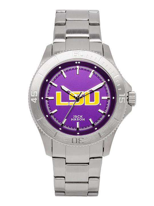 Watches - LSU Tigers Sport Bracelet Team Color Dial Watch By Jack Mason