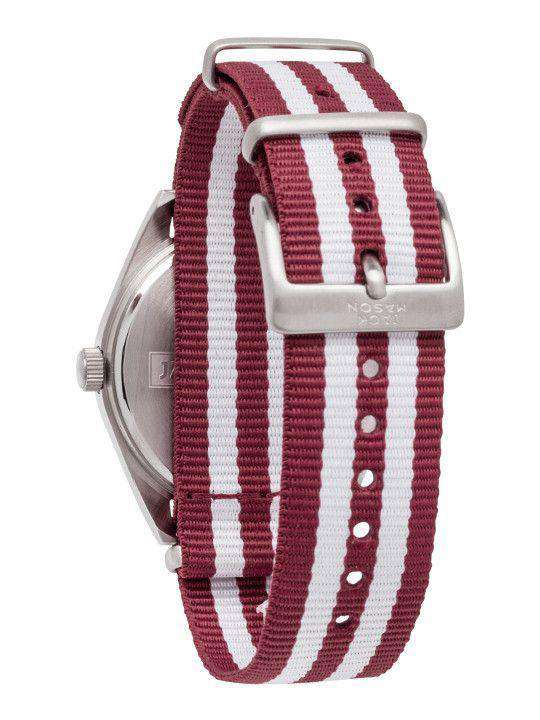 Watches - Mississippi State Bulldogs Unisex Nato Striped Strap Watch By Jack Mason