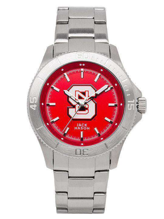 Watches - North Carolina State Sport Bracelet Team Color Dial Watch By Jack Mason