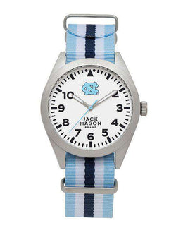 Watches - North Carolina Tar Heels Unisex Nato Striped Strap Watch By Jack Mason
