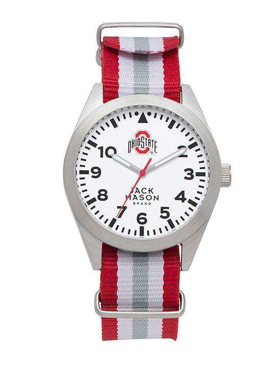 Watches - Ohio State Buckeyes Unisex Nato Striped Strap Watch By Jack Mason