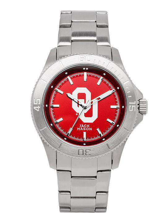 Watches - Oklahoma Sooners Sport Bracelet Team Color Dial Watch By Jack Mason