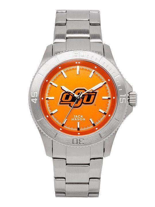 Watches - Oklahoma State Cowboys Sport Bracelet Team Color Dial Watch By Jack Mason