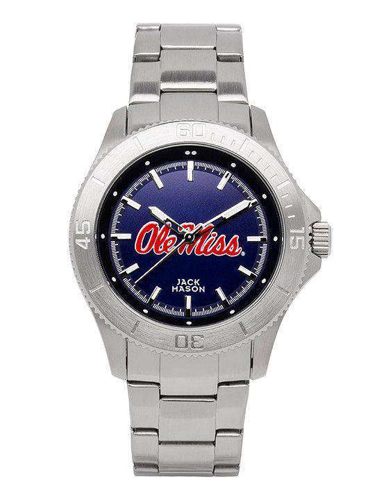 Watches - Ole Miss Rebels Sport Bracelet Team Color Dial Watch By Jack Mason