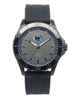 Watches - Penn State Nittany Lions Men's Blackout Silicone Strap Watch By Jack Mason