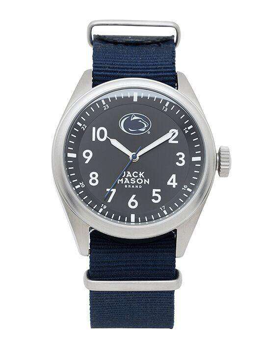 Watches - Penn State Nittany Lions Men's Nato Solid Strap Watch By Jack Mason