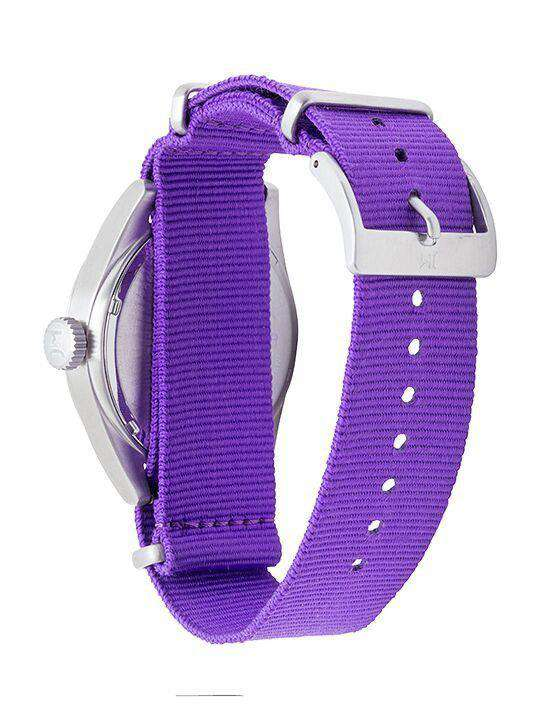 Watches - TCU Horned Frogs Men's Nato Solid Strap Watch By Jack Mason